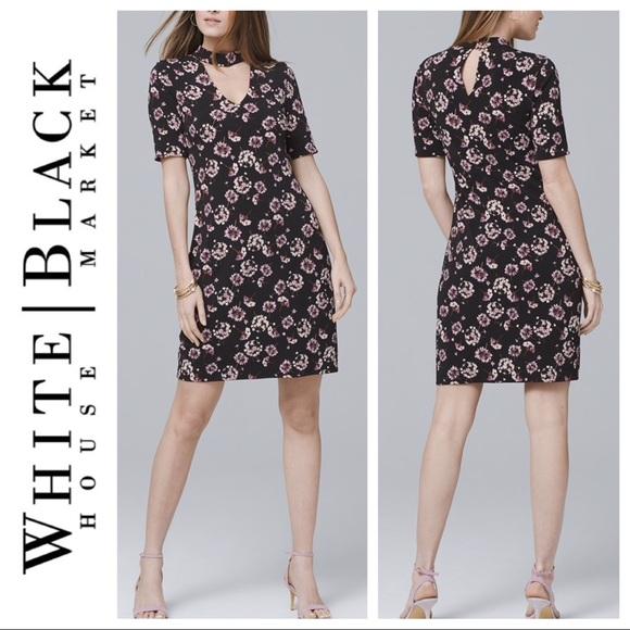 66470ccf7a ... Reversible short-sleeve choker knit dress. White House Black Market.  M 5c3bcf1f6a0bb7f0986db11d. M 5c3bcf20fe5151edda41bc79.  M 5c3bcf926a0bb7ad0d6db46e